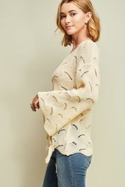 Entro Crochet Knit Top - Back cropped