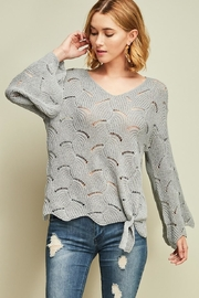 Entro Crochet Knit Top - Front cropped