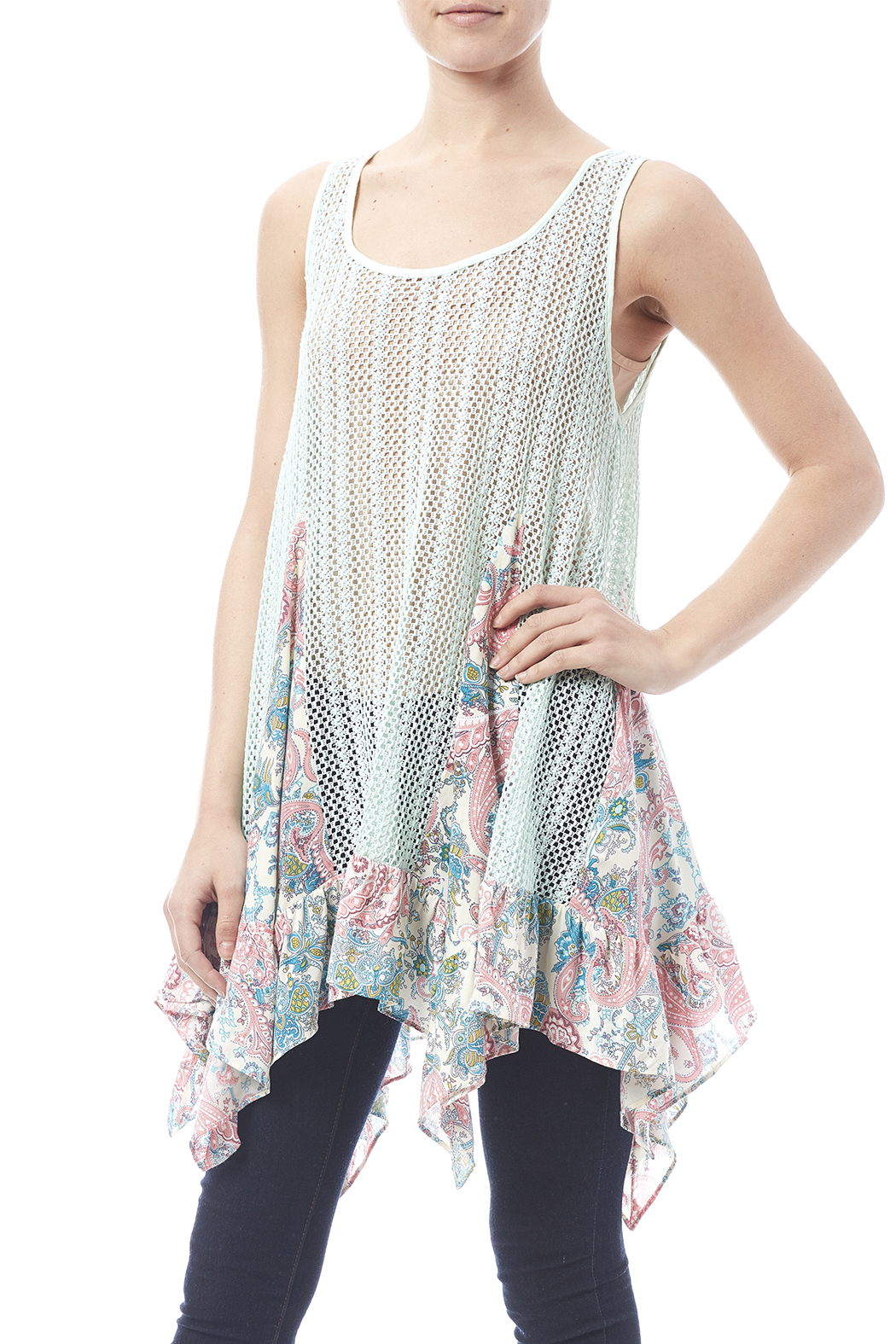 Entro Crochet Paisley Top From Pittsburgh By The Vintage Valet