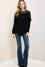Entro Crochet Ruffle Long-Sleeve - Front cropped
