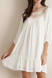 Entro Crochet Ruffled Dress - Product Mini Image