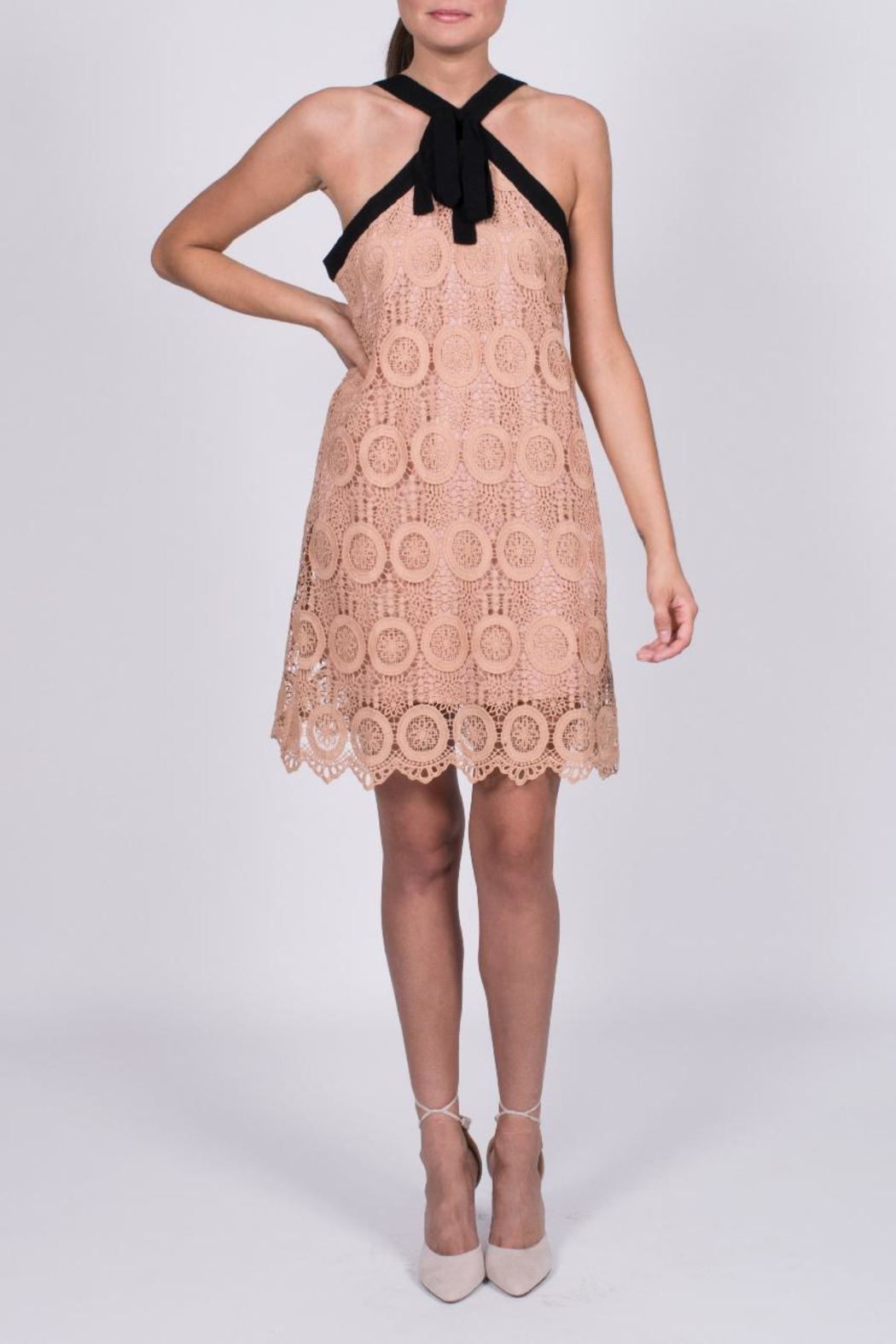 Entro Crochet Tie Dress - Front Full Image