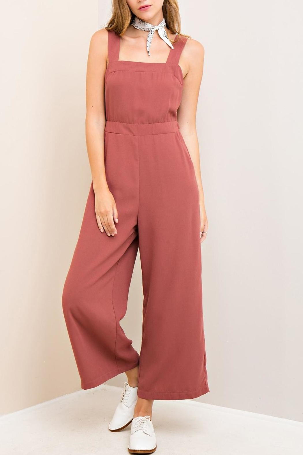 10731ee4b630 Entro Cutout Back Jumpsuit from Virginia by mod soul — Shoptiques