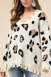 Entro Distressed Leopard Sweater - Product Mini Image