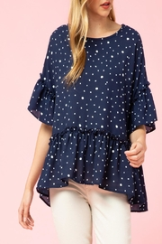Entro Dotted Asymmetrical-Hem Top - Product Mini Image