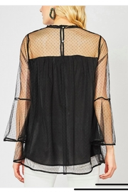 Entro Dotted Lace Long Sleeve Top - Product Mini Image