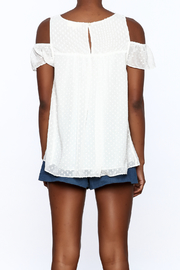 Entro White Dotted Top - Back cropped