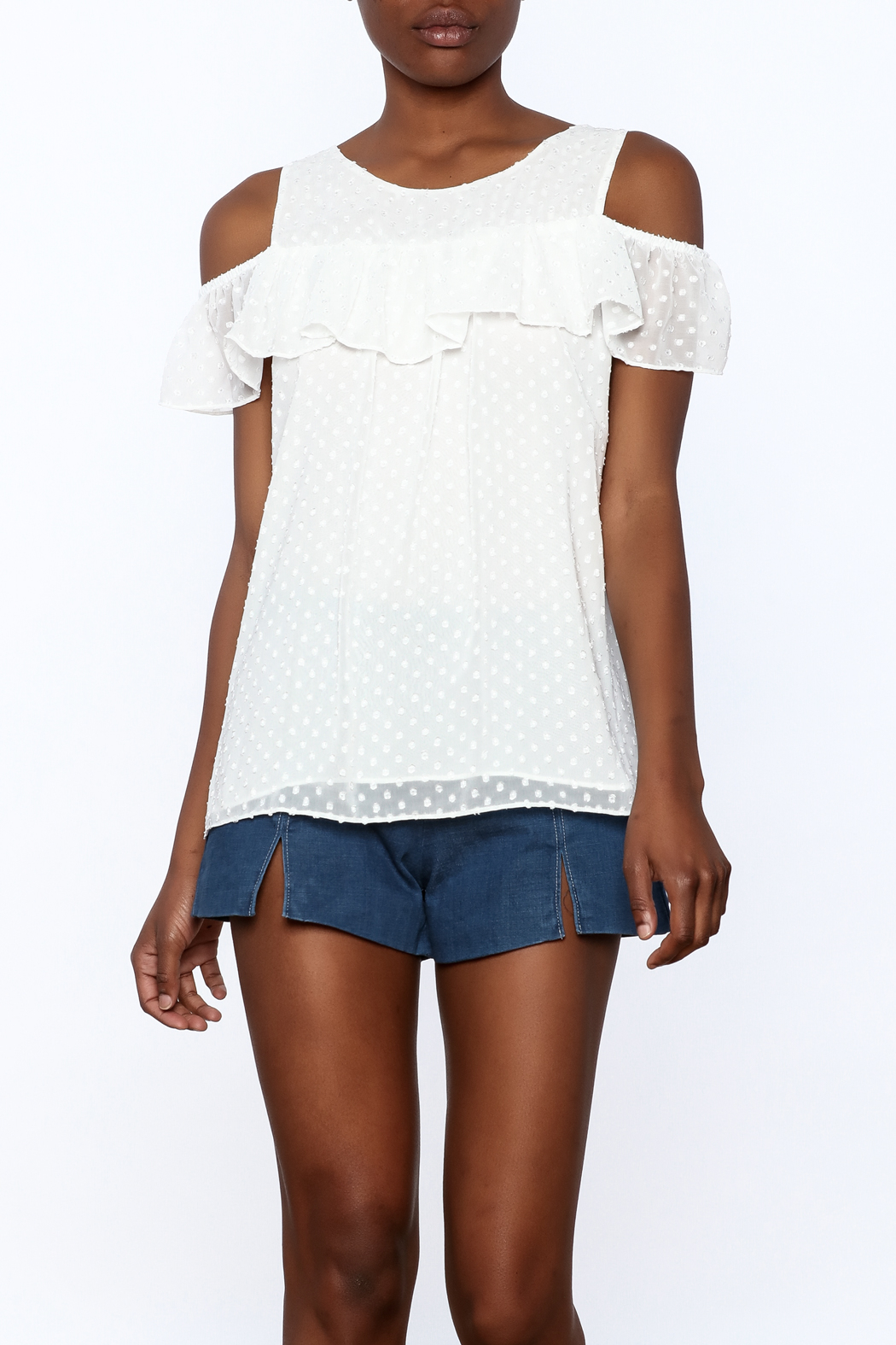 Entro White Dotted Top - Main Image