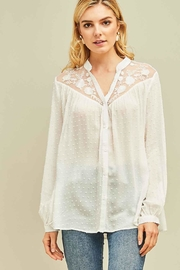 Entro Dotted Swiss Button-Up Top - Product Mini Image