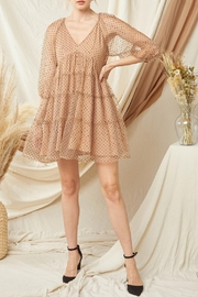 Entro Dotted Tiered Dress - Product Mini Image