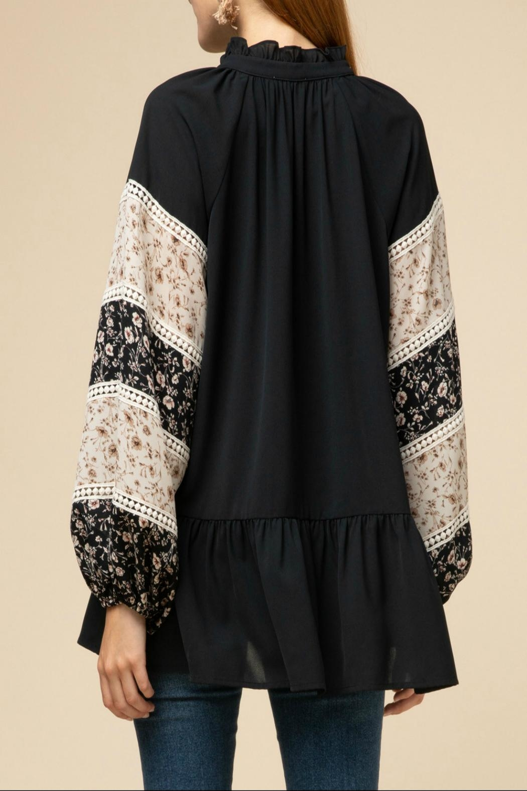 Entro Drop-Waist Peasant Top - Front Full Image