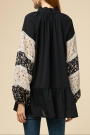 Entro Drop-Waist Peasant Top - Front full body