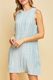 Entro Dust Blue Dress - Product Mini Image