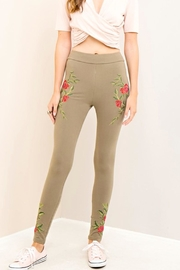 Entro Embroidered Casual Pants - Product Mini Image
