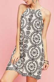 Entro Embroidered Shift Dress - Product Mini Image