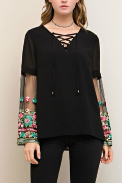 Shoptiques Product: Embroidered Sleeves Top