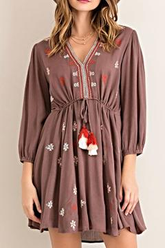 Shoptiques Product: Embroidered Tassel Dress