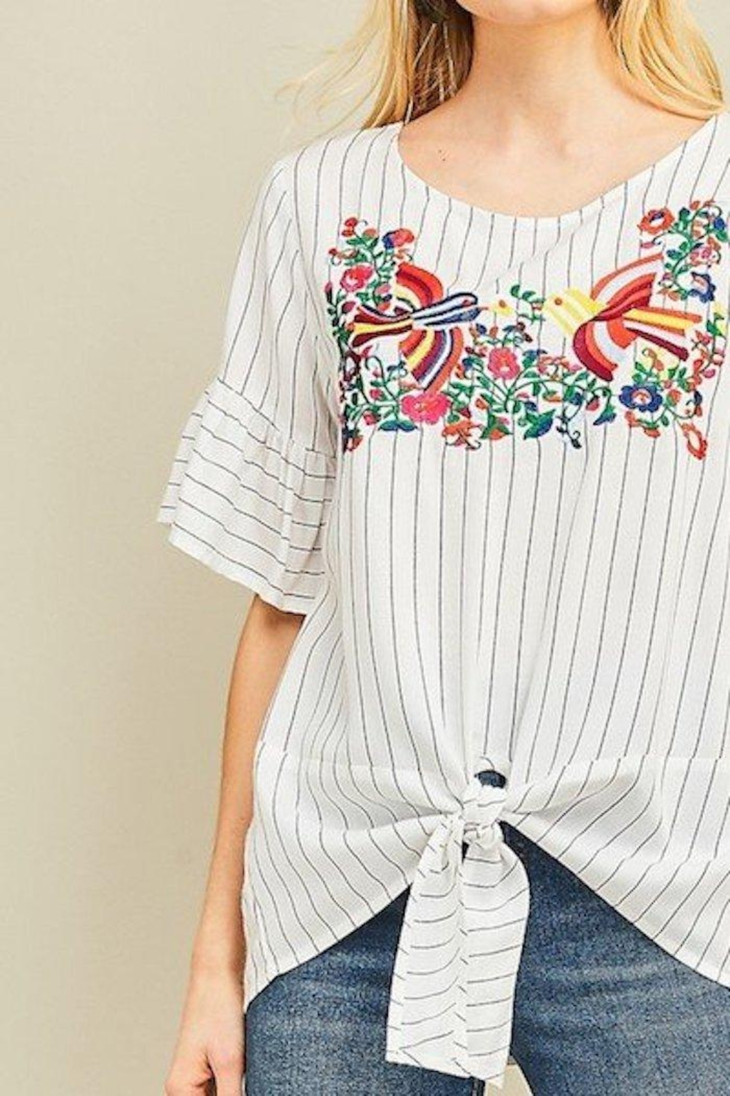 Entro Embroidered Top - Front Full Image