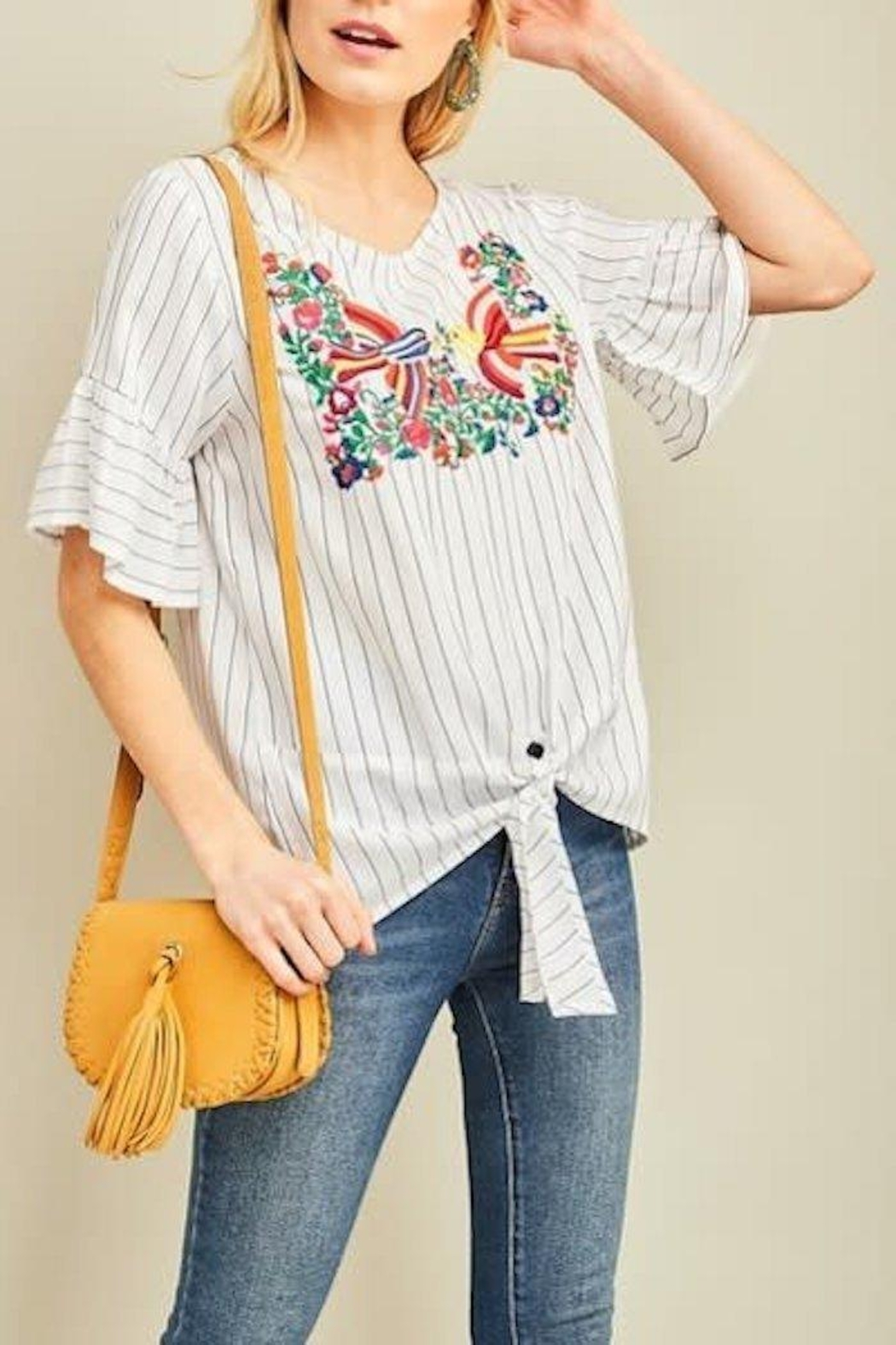 Entro Embroidered Top - Main Image