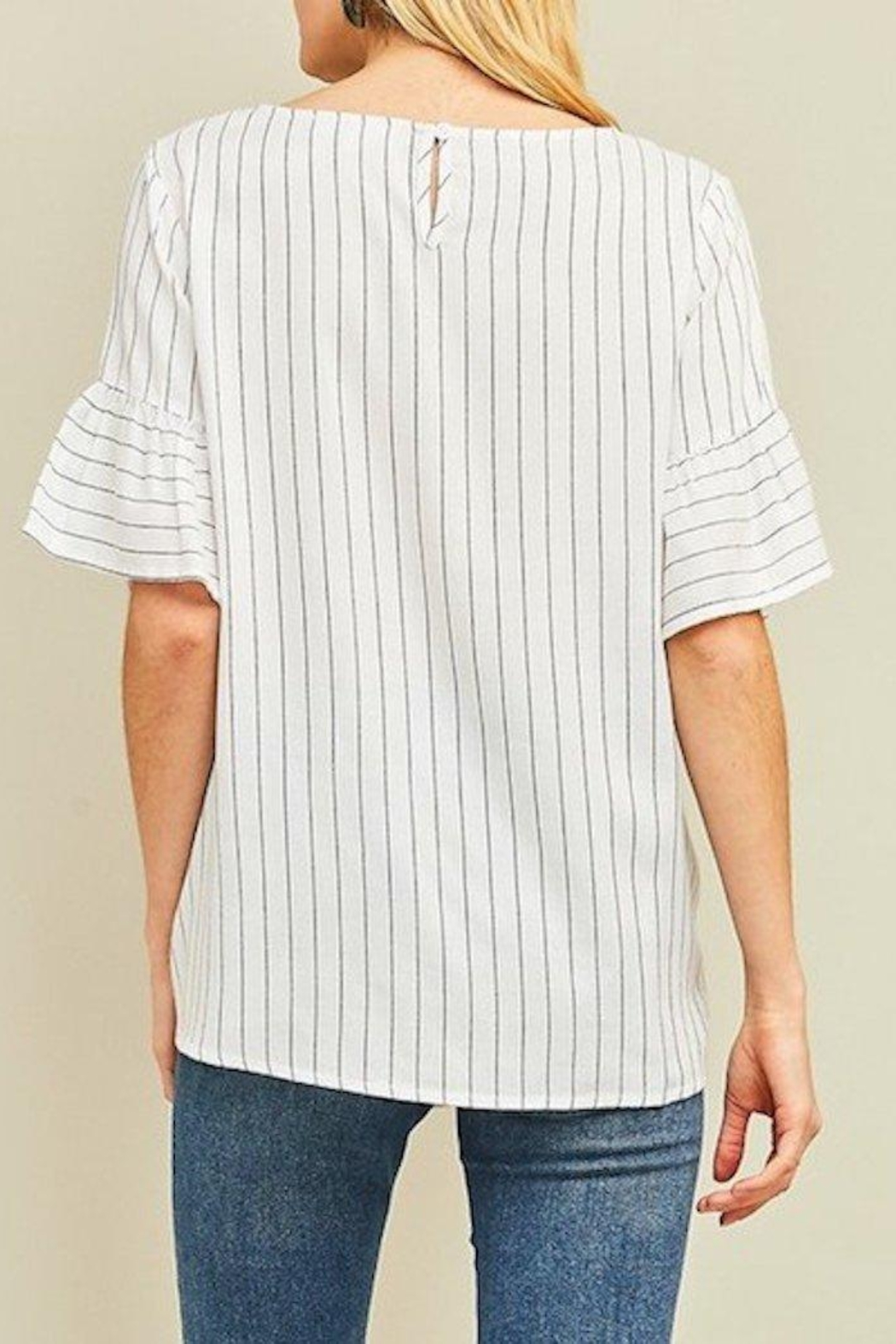 Entro Embroidered Top - Side Cropped Image