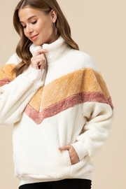 Entro Faux Fur Pullover - Front full body