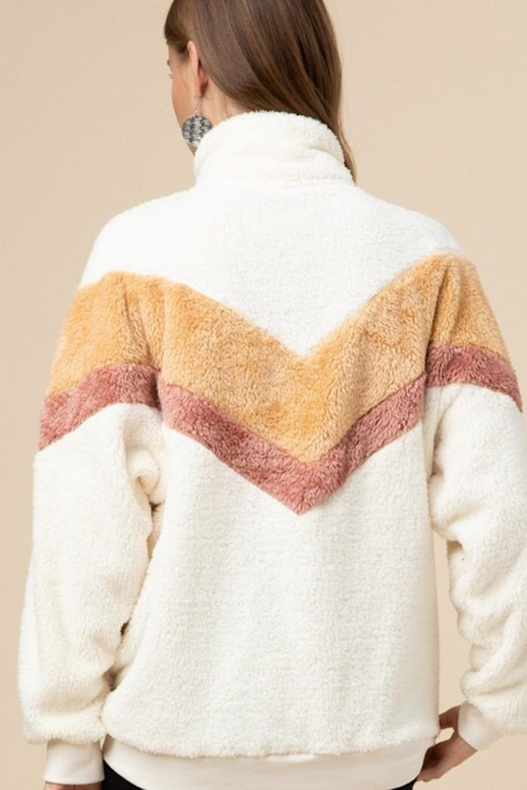 Entro Faux Fur Pullover - Back Cropped Image