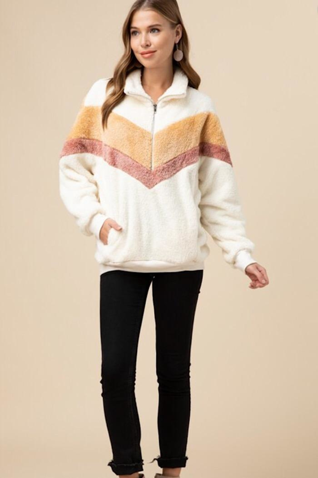 Entro Faux Fur Pullover - Main Image