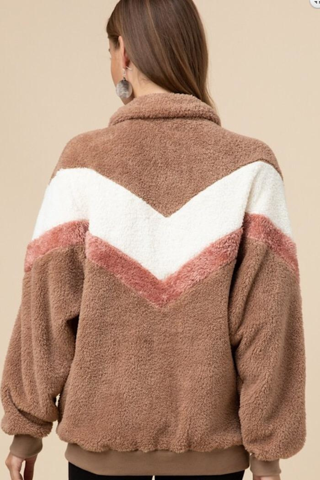 Entro Faux Fur Pullover - Front Full Image