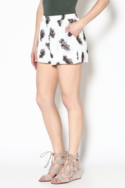 Entro Feather Print Shorts - Product Mini Image