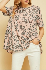 Entro Flared Leopard Top - Product Mini Image
