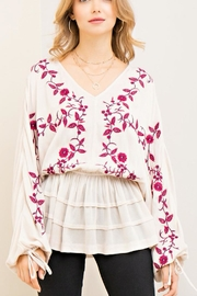 Entro Flattering Floral Blouse - Front cropped