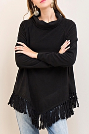 Entro Fleeced Fringe Top - Front cropped