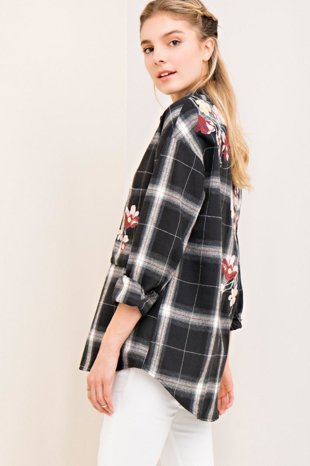 Entro Floral Button Down - Side Cropped Image