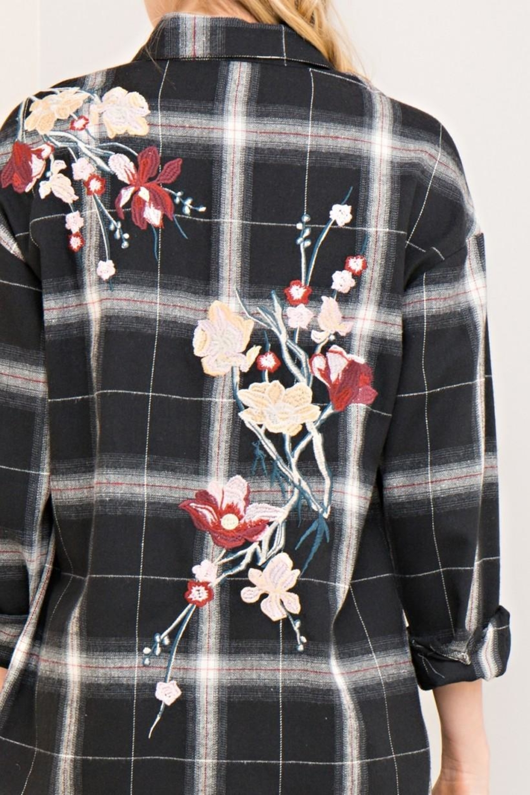 Entro Floral Button Down - Back Cropped Image