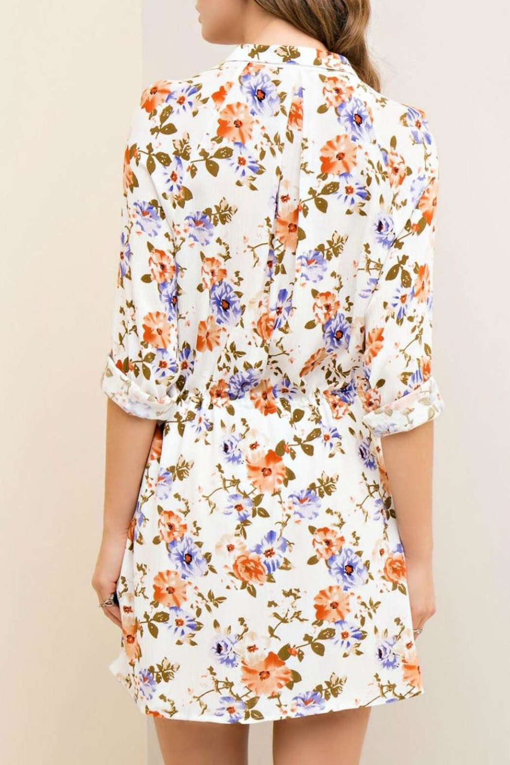 Entro Floral Button-Down Dress - Side Cropped Image