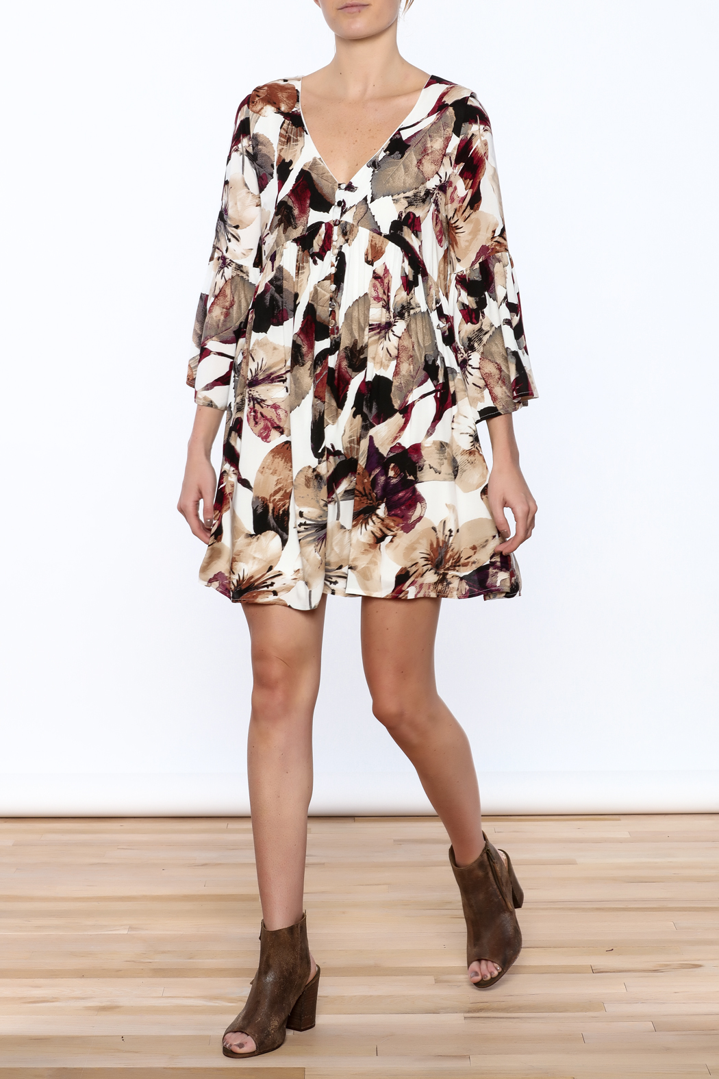 Entro Floral Dress - Front Full Image