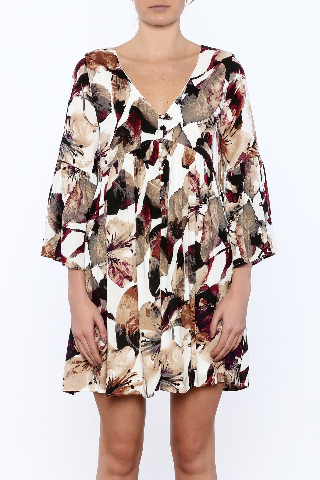 Entro Floral Dress - Side Cropped Image
