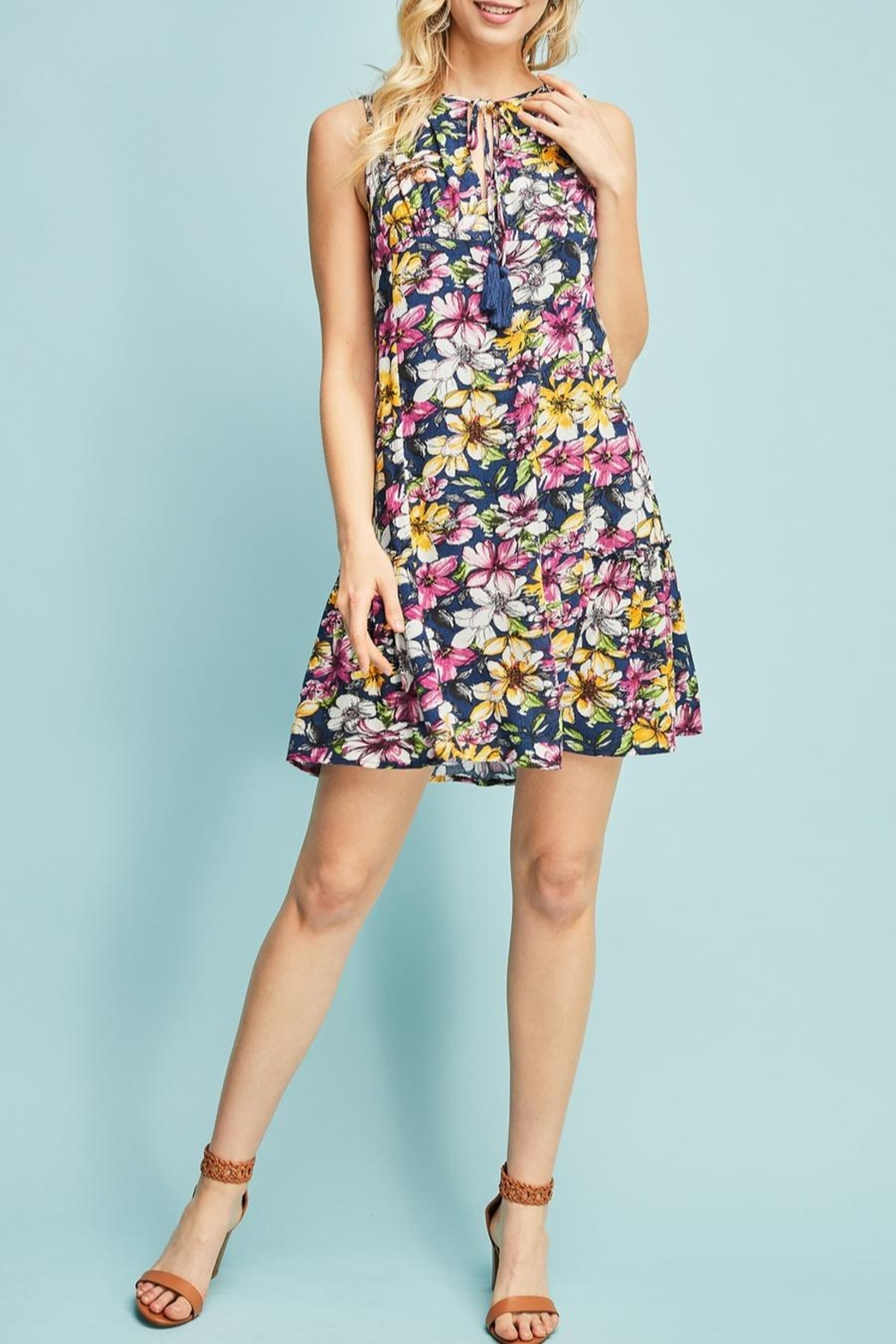 Entro Floral Dress - Front Cropped Image