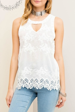 Shoptiques Product: Floral Embossed Top