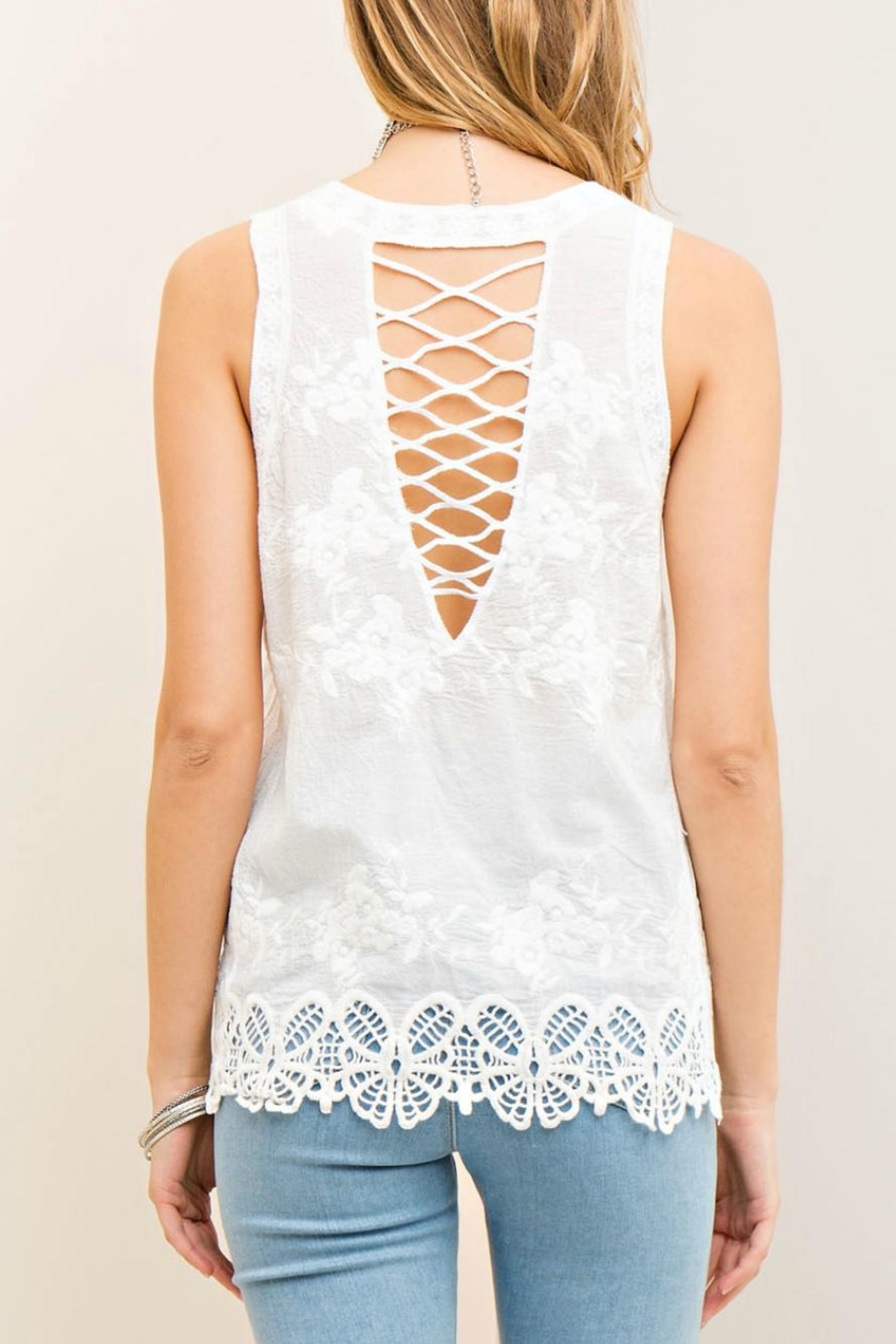 Entro Floral Embossed Top - Front Full Image