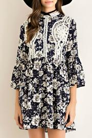 Entro Floral Fit Flare Dress - Front cropped