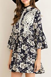 Entro Floral Fit Flare Dress - Front full body