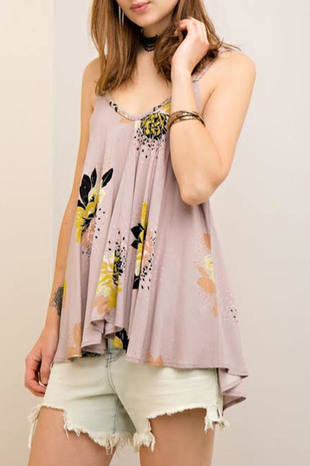 Entro Floral Flowy Tank - Front Full Image