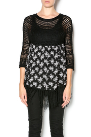 Entro Floral Fringe Sweater - Product Mini Image