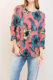 Entro Floral Knit Top - Product Mini Image