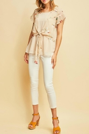 Entro Floral Knotted Top - Product Mini Image