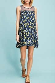 Entro Floral Lace Dress - Front full body