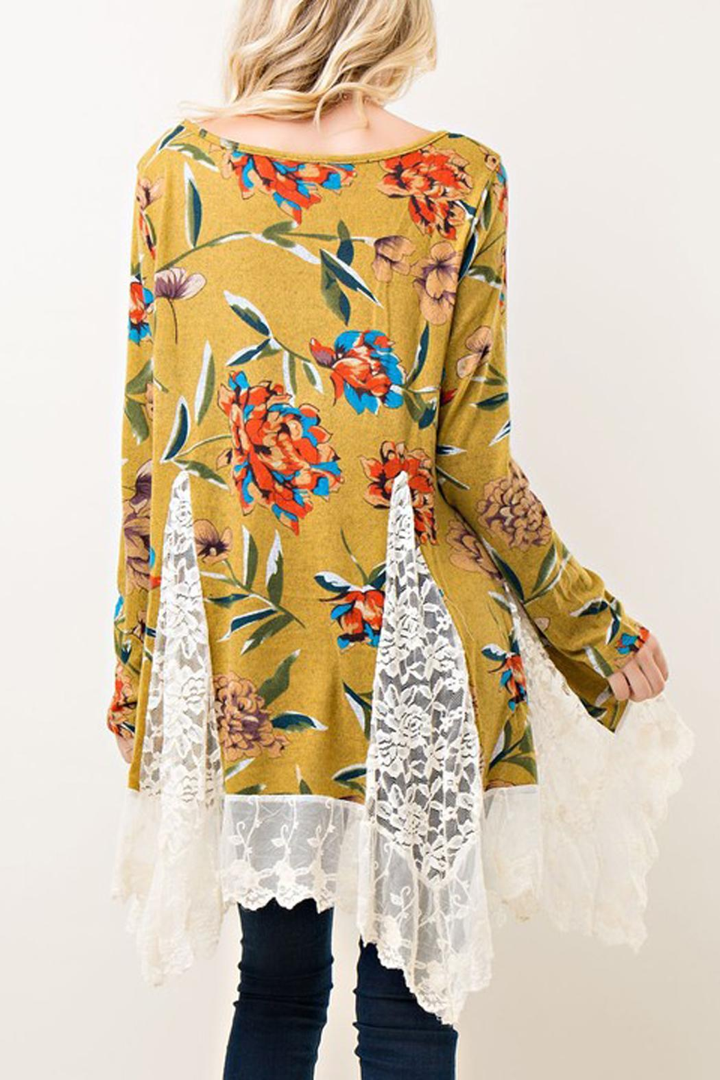 Entro Floral Lace Tunic - Front Full Image