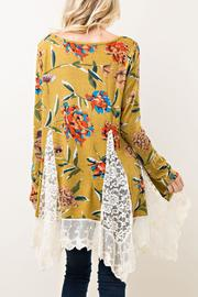 Entro Floral Lace Tunic - Front full body