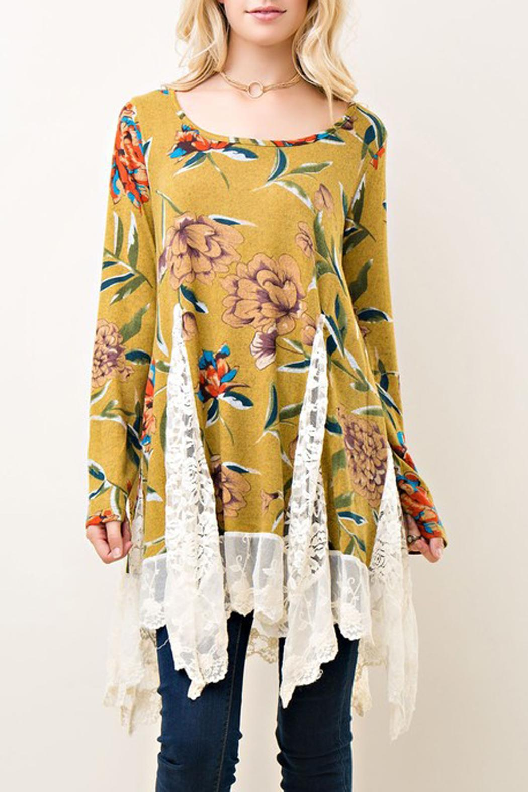Entro Floral Lace Tunic - Main Image
